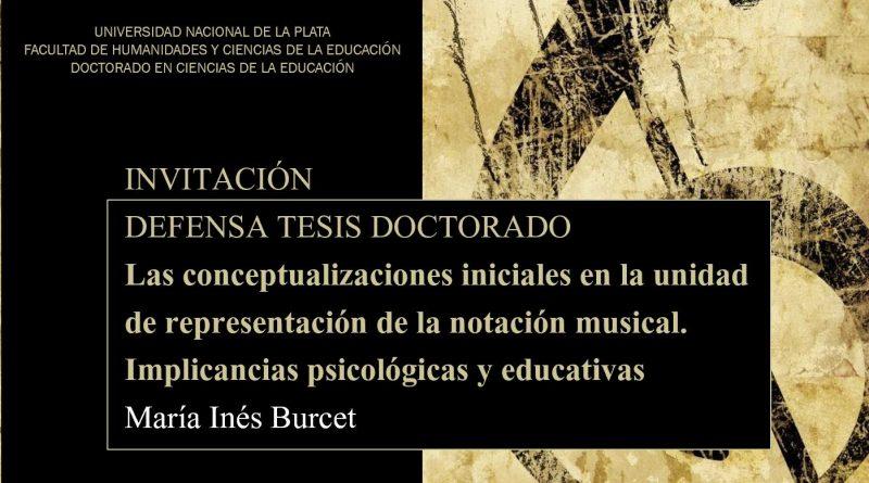 Defensa de Tesis – María Inés Burcet